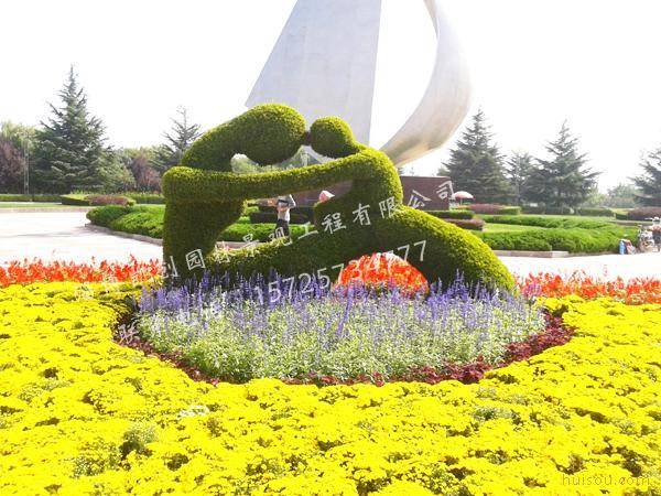 五色草雕塑|立体花坛|园林景观工程|五色草苗销售