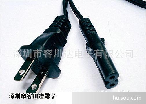 电工电气 美国空调扇电源线/美规插头/美式梅花尾电源线/弯头品字尾