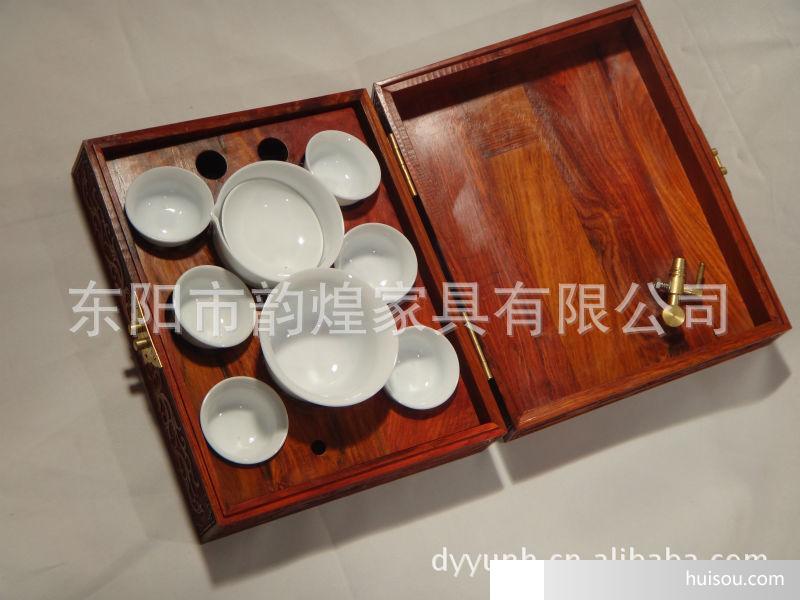 红木茶具|茶道|东阳木雕|工艺礼品|婚庆礼品|婚嫁用品11c001批发