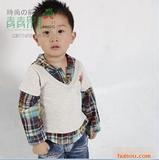 2011春季新款 青青果品牌扎染格小汽车童衬衫028