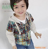 2011春季新款 青青果品牌扎染格小熊童衬衫028