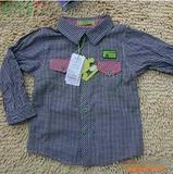 2011春季新款 青青果品牌青蛙格子小童衬衫Q027