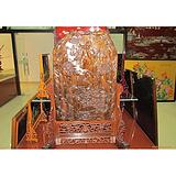 扬州漆器工艺品:60方竖杆楠木雕刻台屏