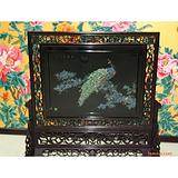 扬州漆器工艺品:75x80精品点螺孔雀