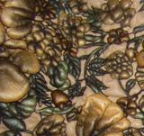 2010新款印花绵羊皮服装革