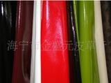 供应猪皮头层漆皮服装革(特点手感柔软)颜色可根据用户需要生产