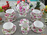 粉花15头骨瓷茶具