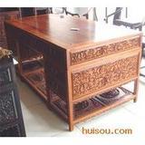 最低价花梨木雕花写字台6000元书桌红酸枝画案古典红木家具