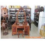最低价花梨梳妆台桌3500老挝红酸枝半桌月牙桌明清家具
