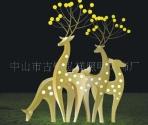 供应不锈钢雕塑灯梅花鹿景观灯