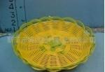 供应塑料仿藤编织水果盘