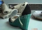 供应藤片编织绿色鞋底