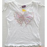 刺绣蝴蝶花短袖