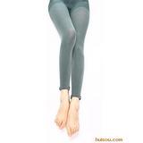 牛仔风潮打底裤(60D) 墨绿色