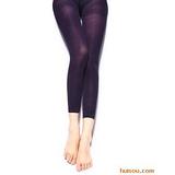 甜蜜果色天鹅绒九分加裆打底裤 深紫色