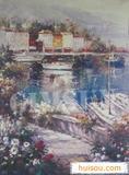 油画效果墙纸丝印现代艺术壁纸装饰壁纸批发
