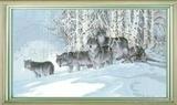 十字绣狼北方的狼高级十字绣十字绣动物