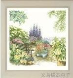 幽静花园十字绣高级十字绣十字绣风景