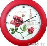 十字绣钟表十字绣玫瑰花高级十字绣纯棉十字绣