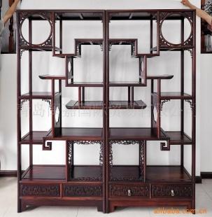 供应红木家具古典家具书柜工艺品柜博古