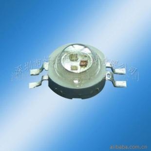 3w大功率led灯珠rgb四脚全彩