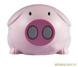 厂家热销带红绿激光灯啵啵猪音响现特价酬宾
