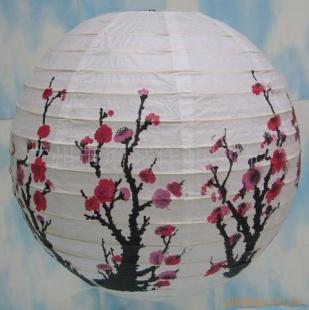 印花纸灯笼