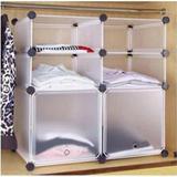收纳柜 塑料透明鞋柜 置物架 六格简易衣柜 衣柜收纳架 鞋架