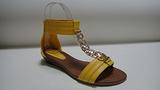 温岭珠宝利时尚女鞋 黄色凉鞋