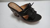 温岭珠宝利时尚女鞋 黑色 褐色厚高跟拖鞋