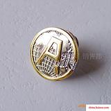 保险公司徽章,平安徽章,双色电镀徽章,金属徽章加工,徽章