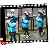 葵花籽专供韩版冬装儿童机车棉衣外套双层加长毛线立领男童夹克