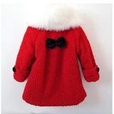 葵花籽童装批发冬装儿童礼花绒夹棉大衣长款风衣外套