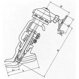 直流式对焊截止阀j65y图片