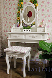 梳妆台 田园韩式 时尚梳妆镜 化妆台 简约书桌 烤漆 特价纯白