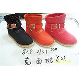 艾尔文童鞋 女童冬季棉靴 838 2731 50#克 西 桔