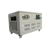 低噪音易移动20KW燃气汽油发电电焊一体机