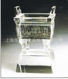 供应水晶工艺品水晶奖杯水晶鼎制作刻字加工