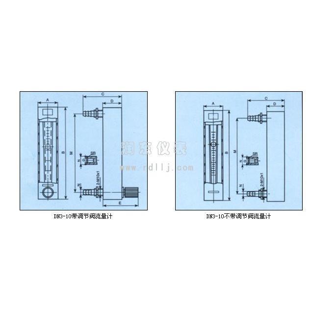 小流量玻璃转子流量计主要技术参数: 通径:DN3~10 测量范围:水 (20) 0.4ml/min~1.6L/min;气 (101325Pa,20) 6ml/min~45L/min 量程比:101 准确度等级:2.5级,4级,6级 公称压力:0.2MPa 工作温度:120 连接方式:软管、金属管、法兰(GB/T9119-2000) 我公司专业生产电磁流量计、智能电磁流量计、涡街流量计、超声波流量计、金属转子流量计、椭圆齿轮流量计等系列流量计产品,厂家直销,品质保证! 公司网站:http://www.