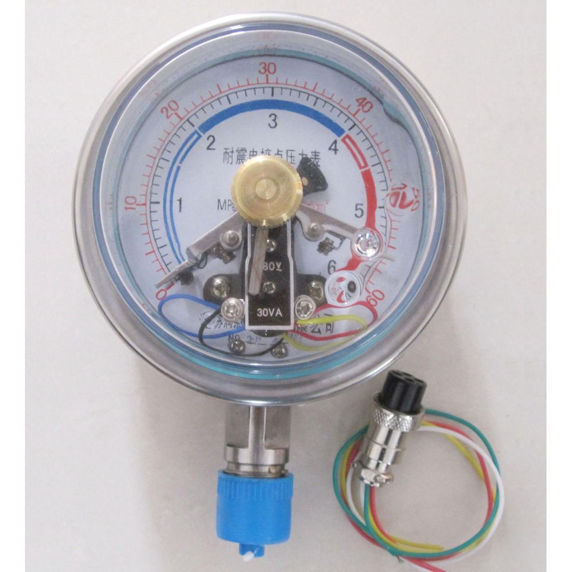 需要电接点压力表控制水泵的接线图