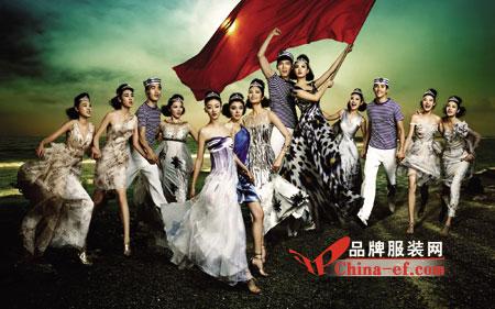 2011年度十佳职业时装模特合影