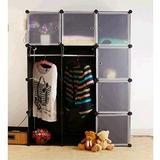 DIY自由组合收纳柜置物架储物架便携式整体简易魔片组合衣柜韩式