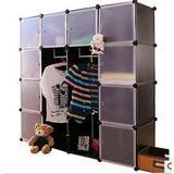 16格自由组合衣柜简易宜家 塑料柜 衣服收纳柜 储物柜 特大号