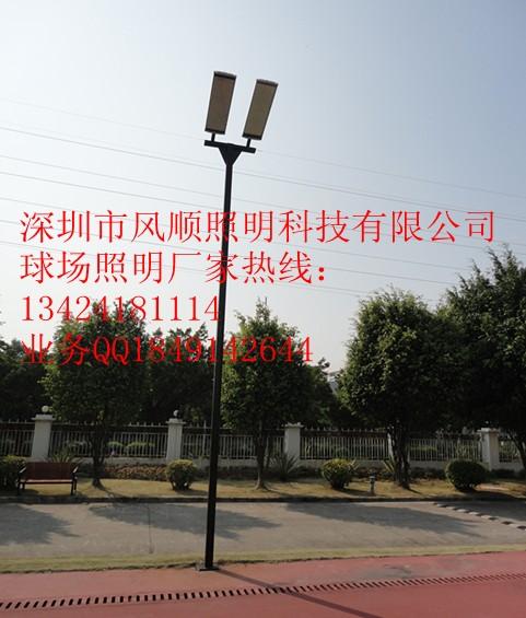 本方案标准网球场尺寸以及LED网球场照明灯布置图:-LED网球场照