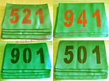 绿色号码布 运动员号码牌
