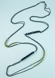 欧美手工项链两层水晶珠项链