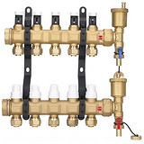 厂家直销黄铜分集水器,地暖专用黄铜分水器,分集水器厂家直销