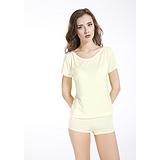 【厂家直销】祥吉利宝 功能纤维珍珠纤维一字领 功能性服装 纳米珍珠纤维  女式短袖t恤
