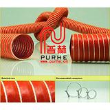 红色高温风管/耐高温风管/硅橡胶风管