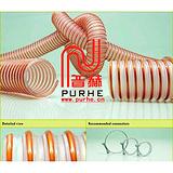 PU钢丝吸尘管/PUR耐磨软管/tpu钢丝增强软管